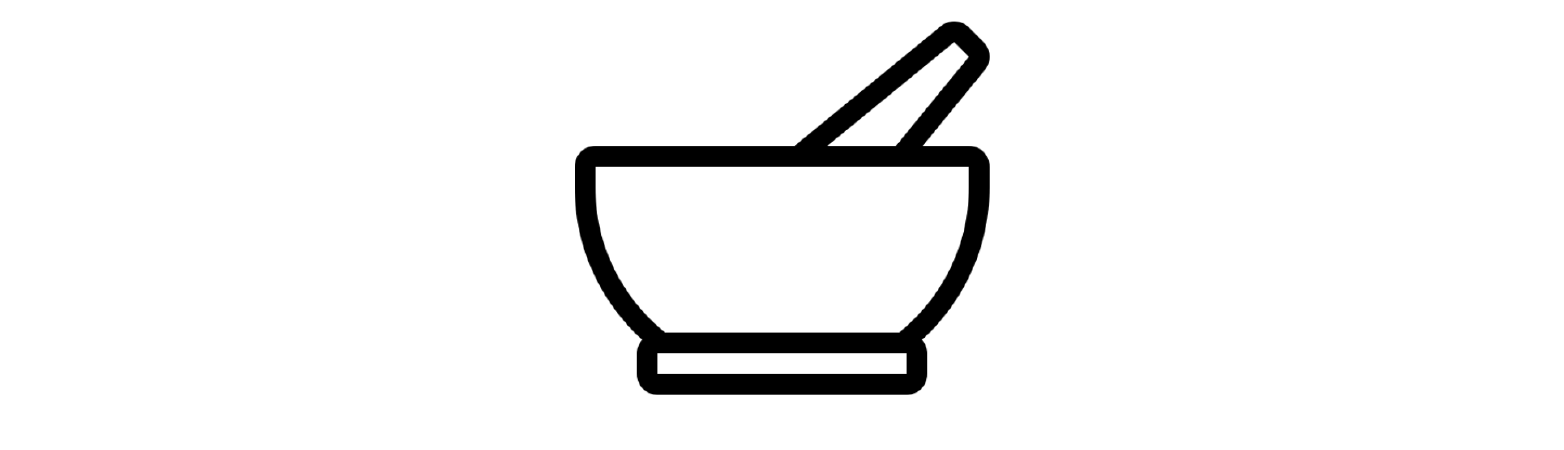 Pestle and mortar vector for nutrition
