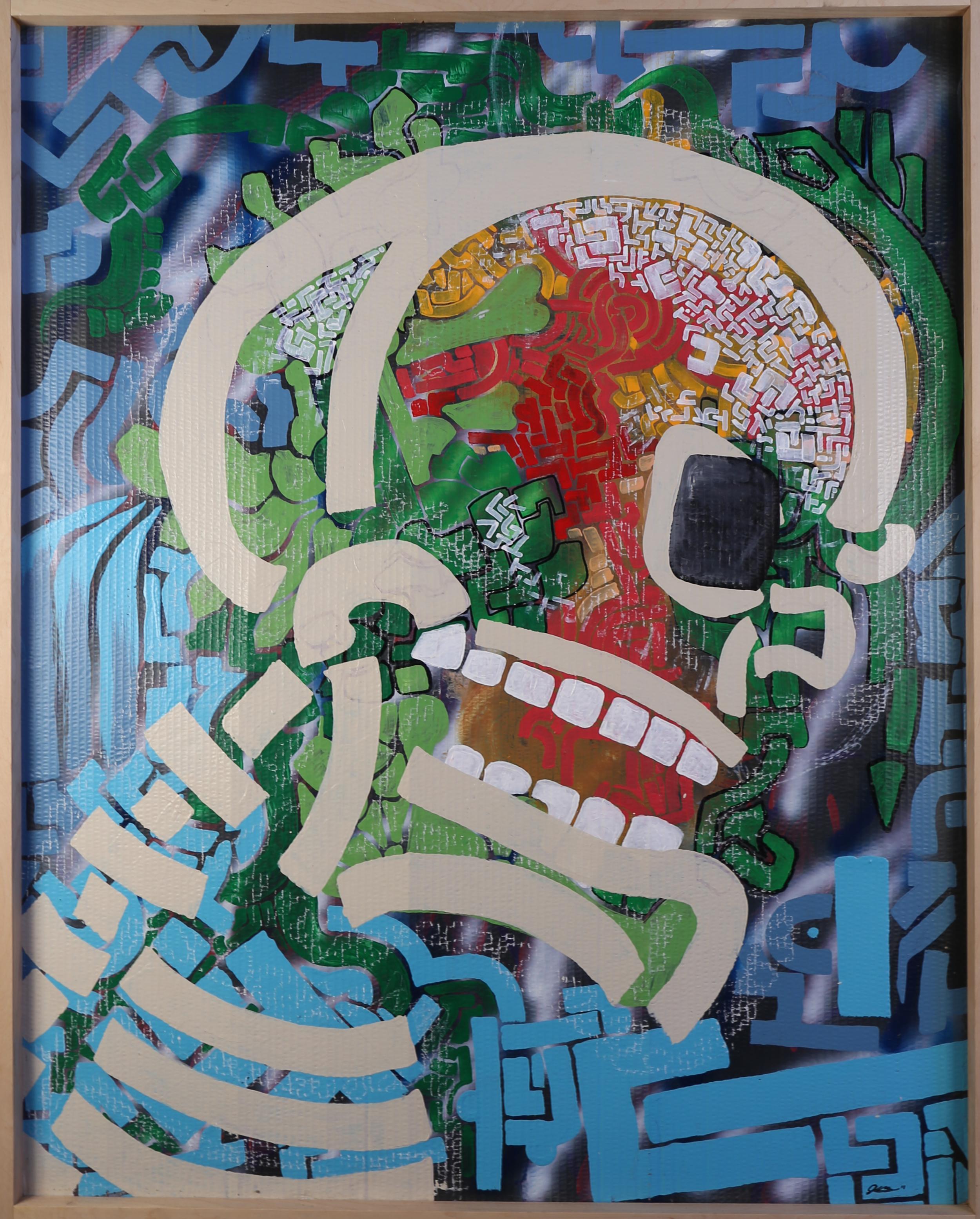 Emergence-julio gonzalez-cardboard-art-mayan.png