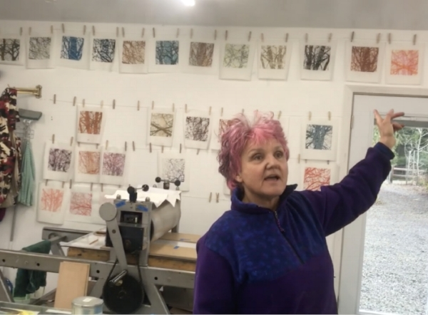 During an artist residency in Sequim, January 2018.