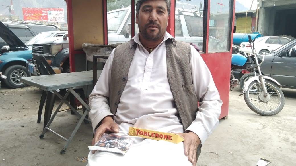 Mirza 2018 with his special delivery of Swiss chocolate and neckie