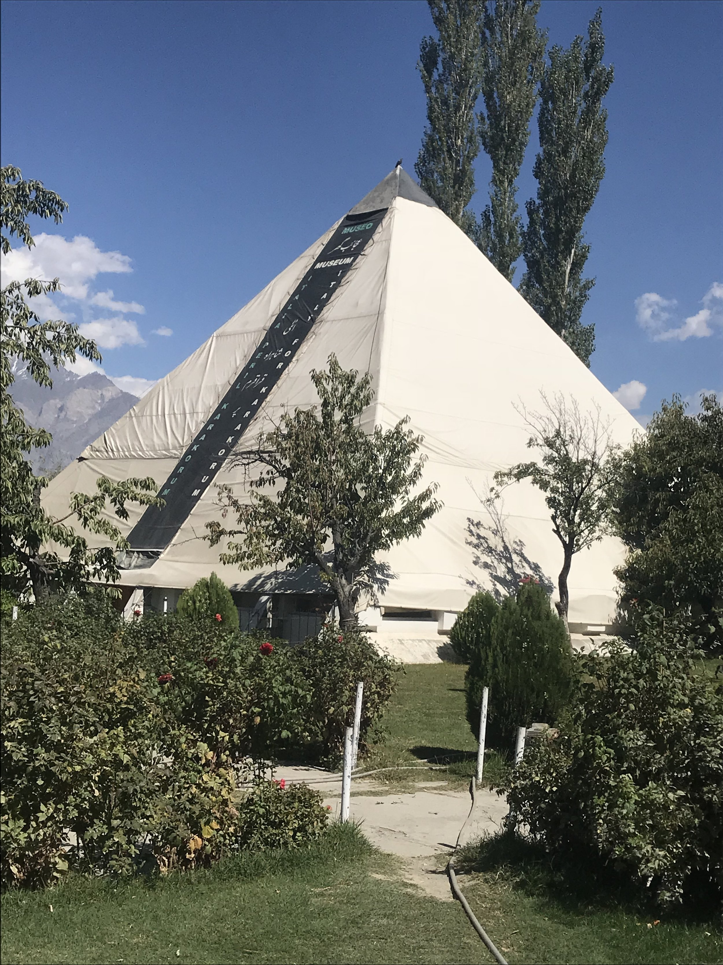 Skardu: K-2 Museum, located in the original basecamp tent for the Italian climbers