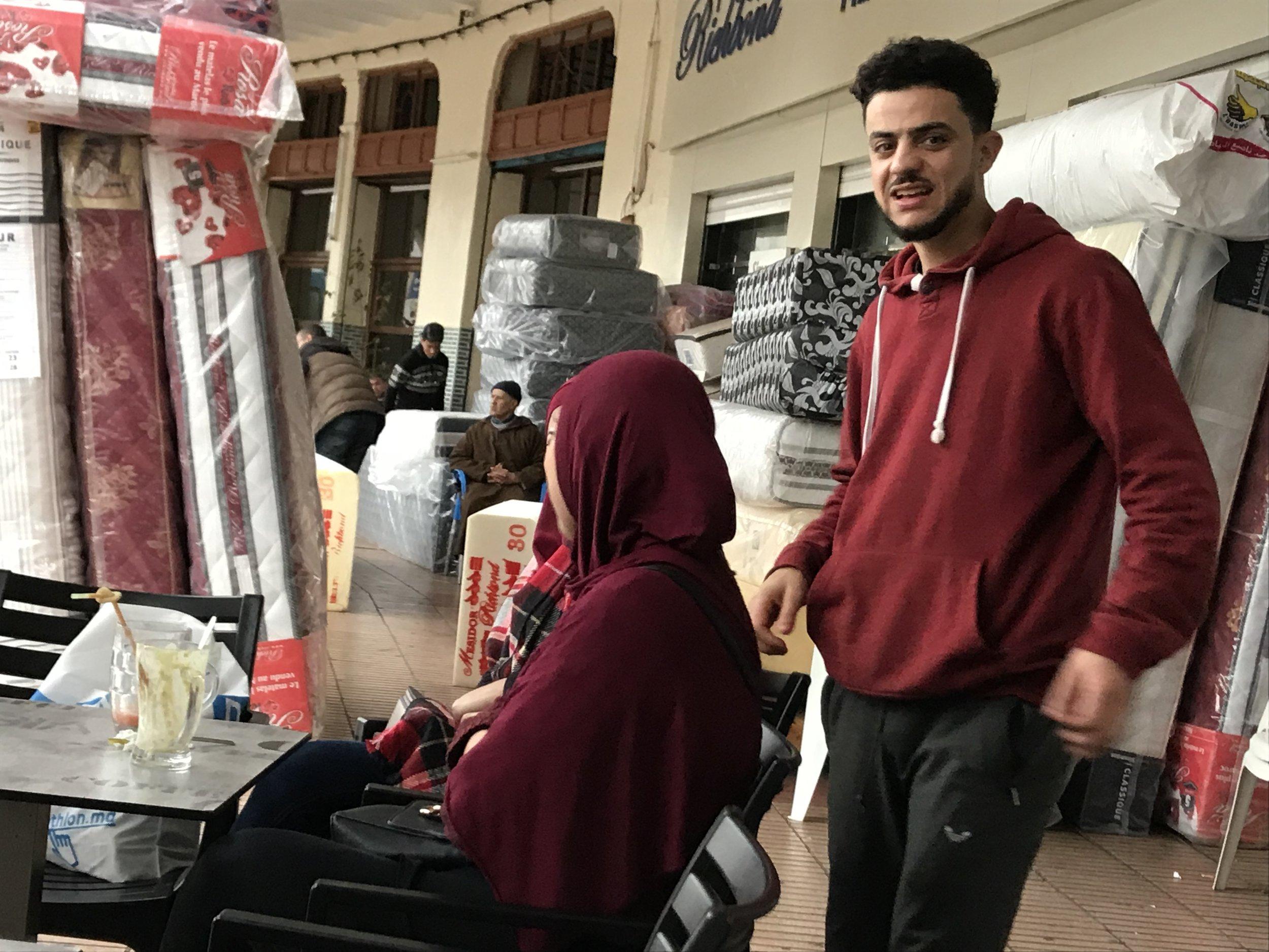 The wonderful Tropical Café server Mohammed. A great resource in our entry into Moroccan life.  Le merveilleux Mohammed au Café Tropique. Une super ressource pour nos débuts de vie Marocaine.