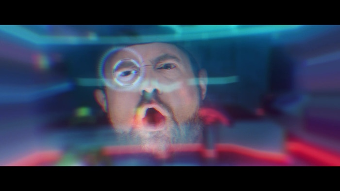 """Kevin Smith as """"Chuck"""" reacting to Foxtrot X-Ray's VR HUD"""