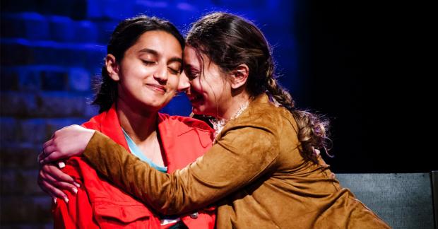 Aasiya Shehlef and Humaira Iqbal in Spun at Arcola Theatre. Photo: Alex Brenner