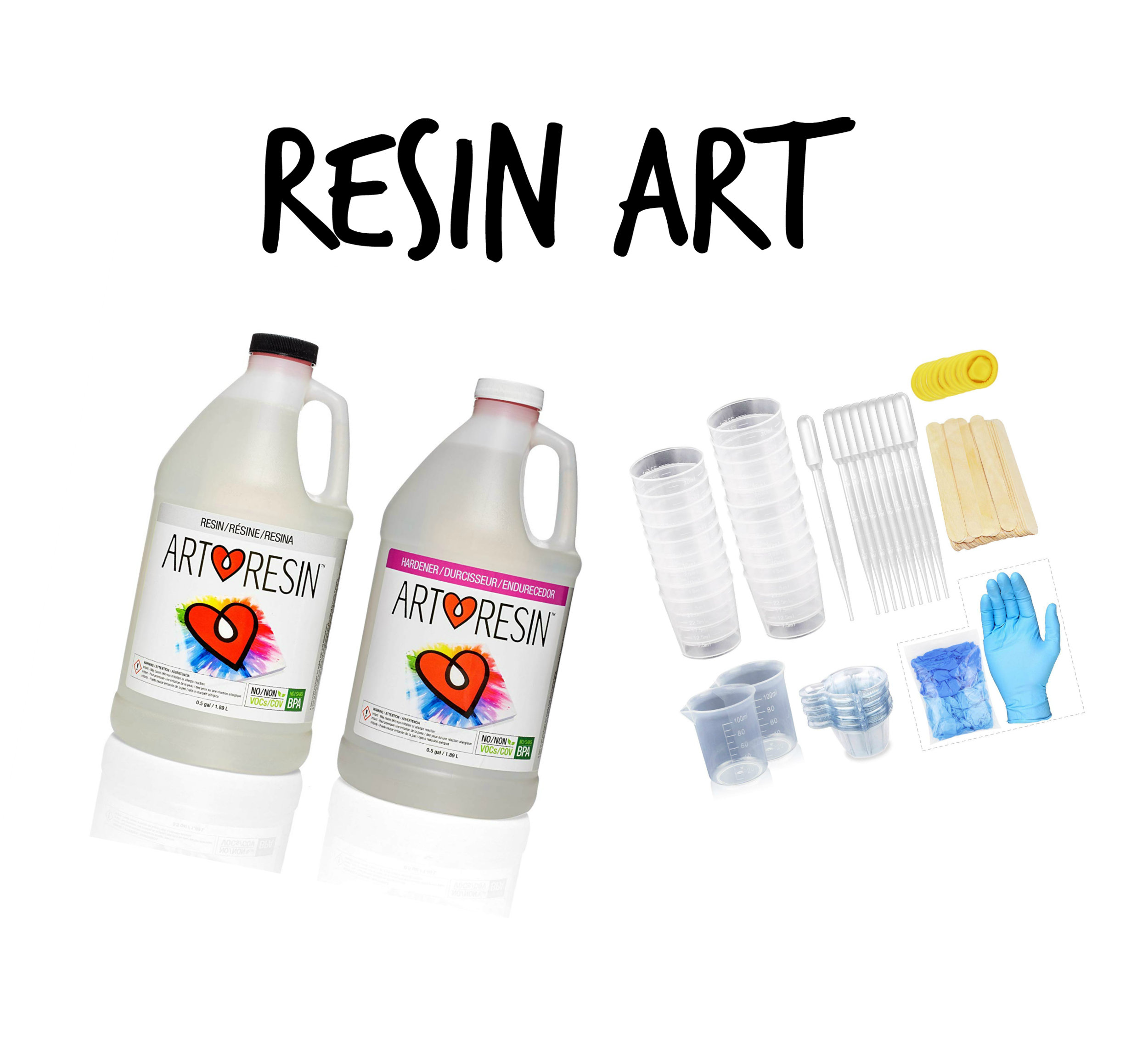 - ArtResin claims to be the safest resin and is okay-ed for in-home use. I still have been wearing a respirator. The heat gun can be used to eliminate bubbles. Definitely use gloves and protect your skin and working area!