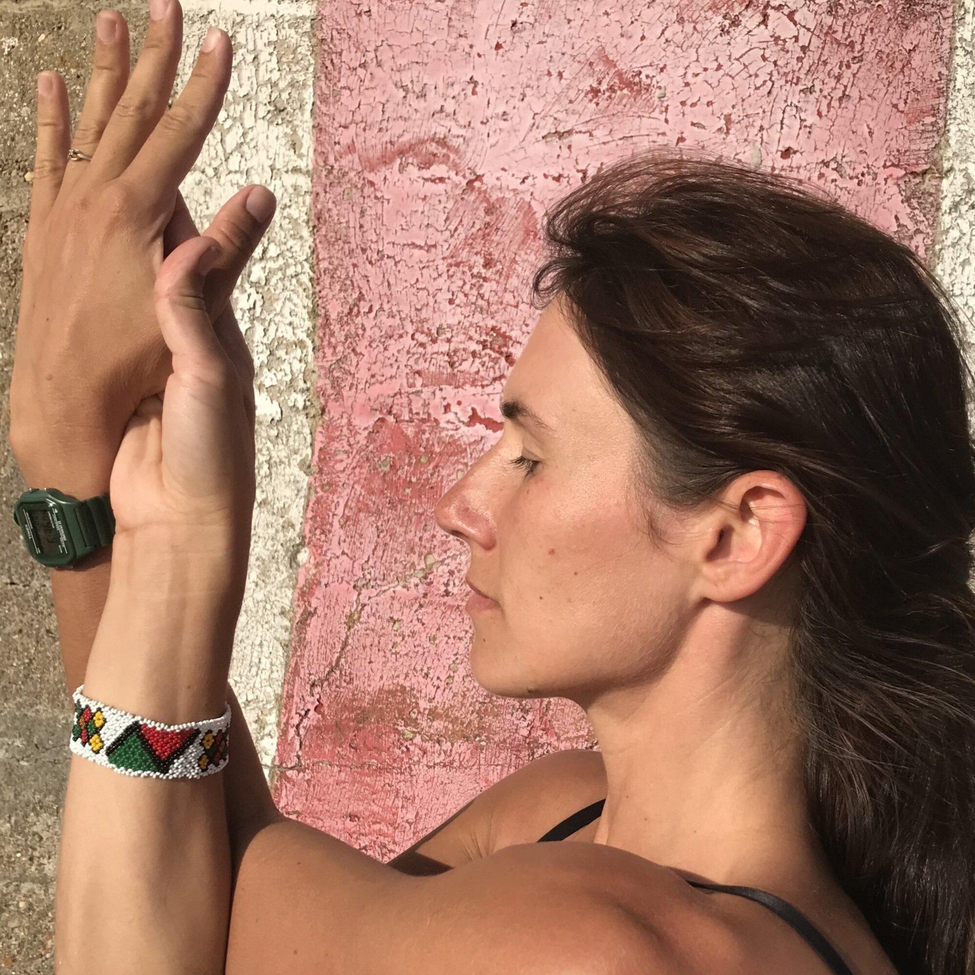 Ewa teaches hatha yoga every Wednesday at St Clement's Farm