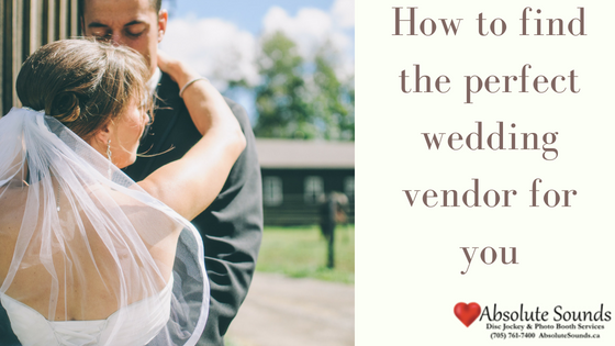 How to find the perfect wedding vendor for you