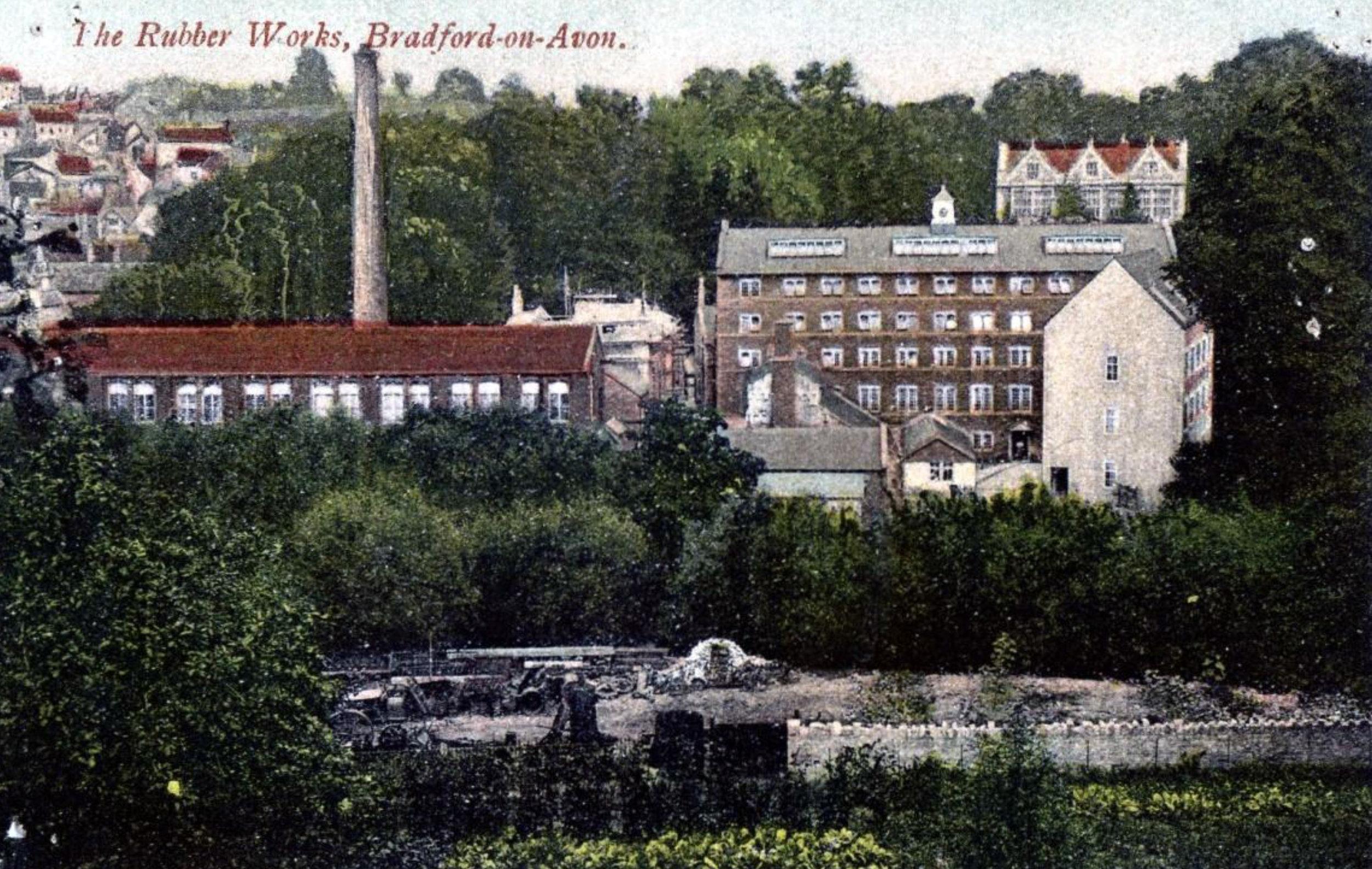 Kingston Mill with Hall behind R Wilkinson Postcard.jpg