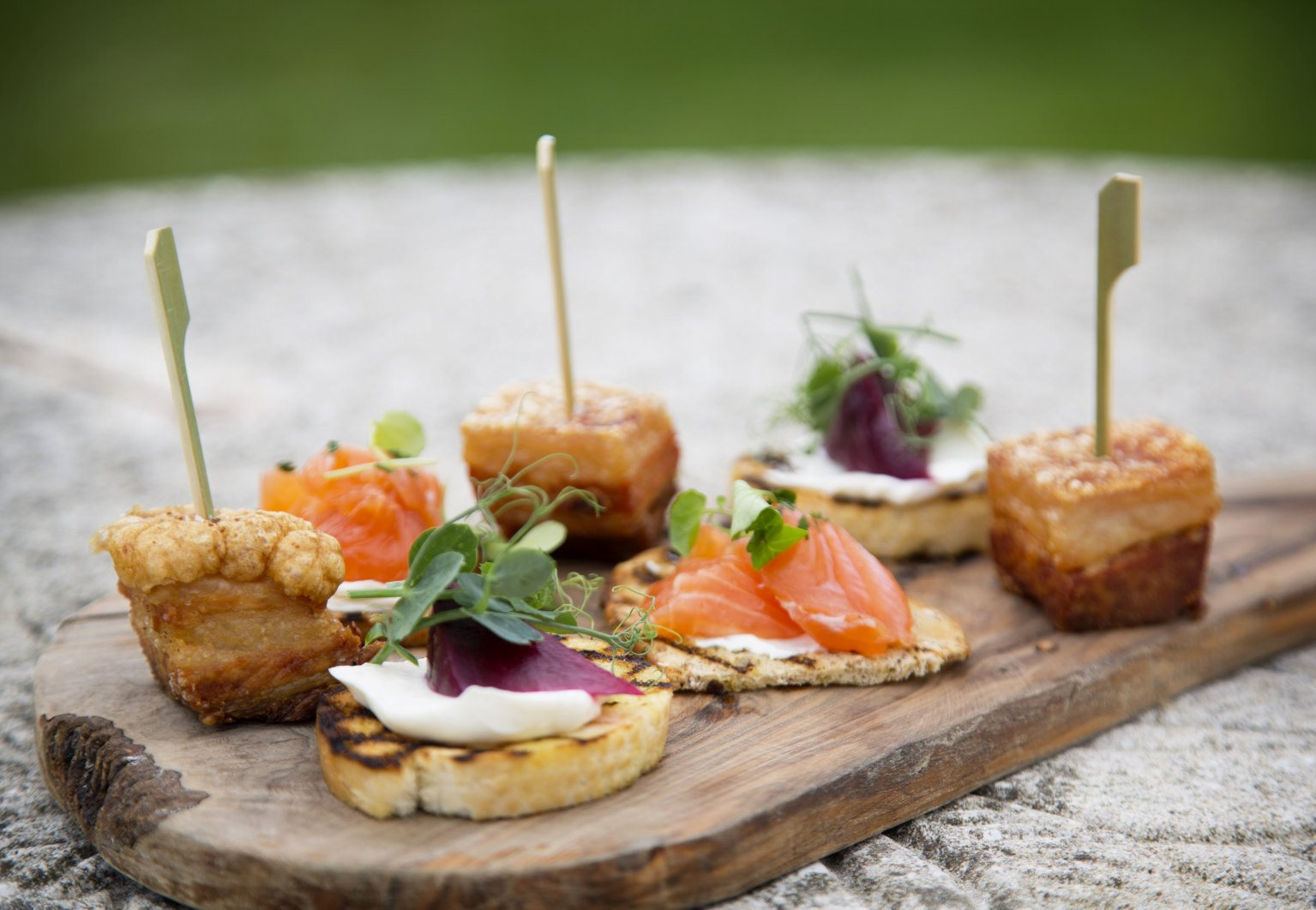 After the ceremony - A glass of prosecco and three canapes per guest (chefs choice)