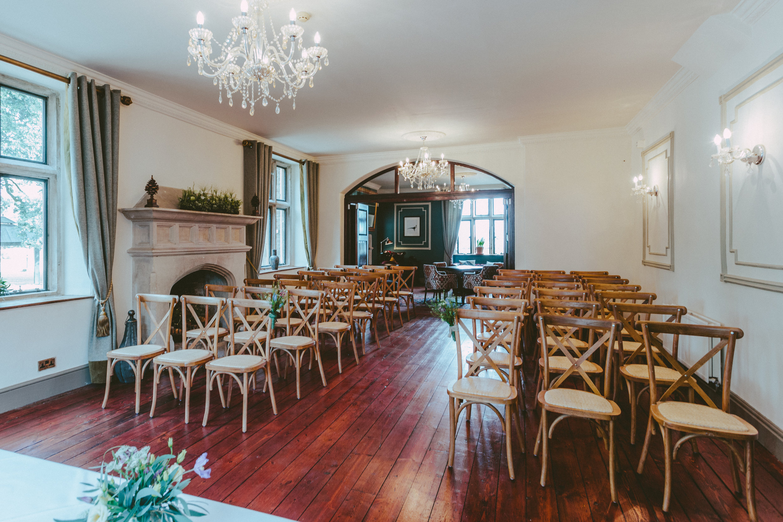 The ceremony - Get married in our Woodlands Room for up to 90 guests