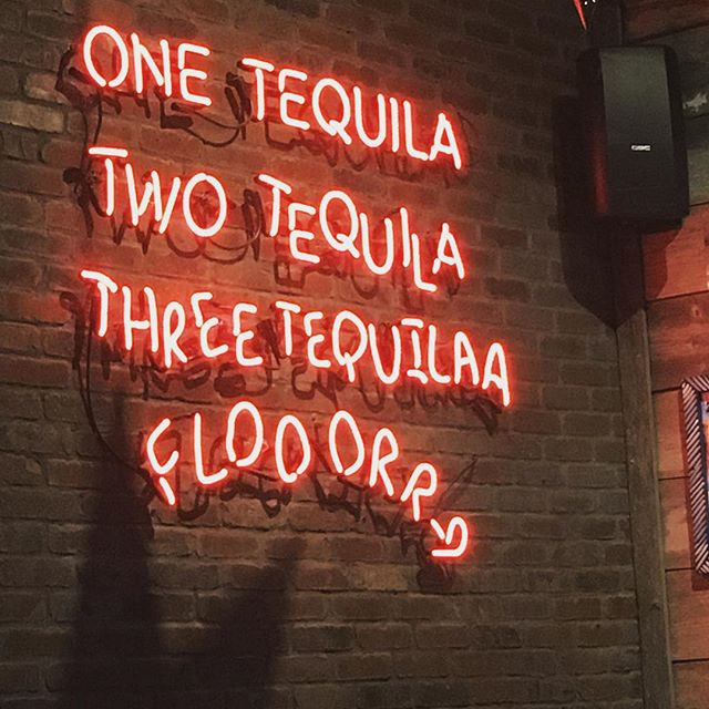It's officially tequila season, hibernation is over, and we have shows to announce in the next few weeks !! Also, this sign is rad @pistoleros_htx #houston #tequila #texas