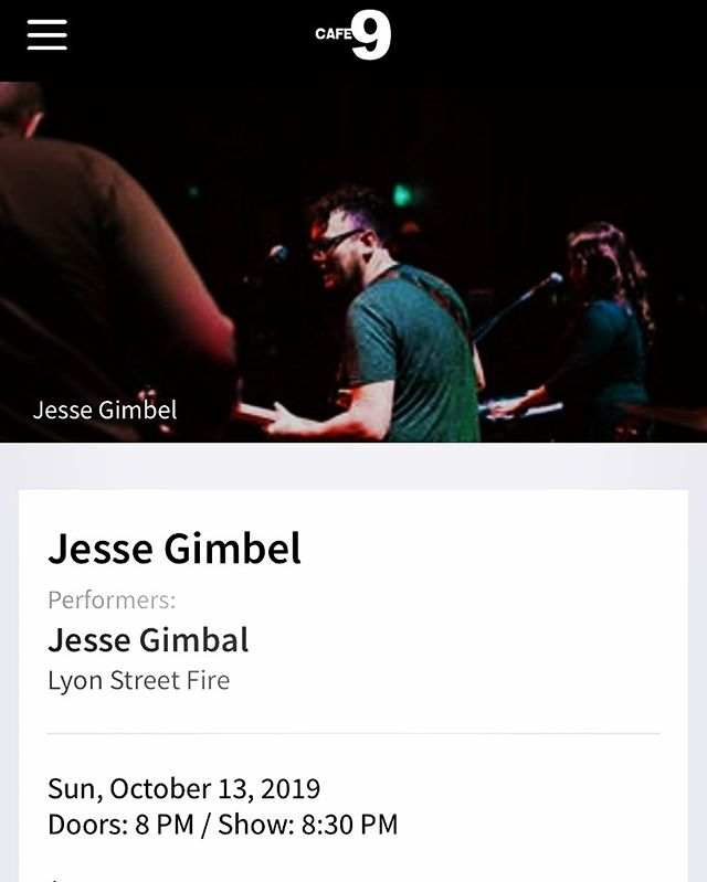 Back in action. Fall warmup show tomorrow (Sunday) opening for @jessegimbel at @cafenine in #newhavenct - come hang!!