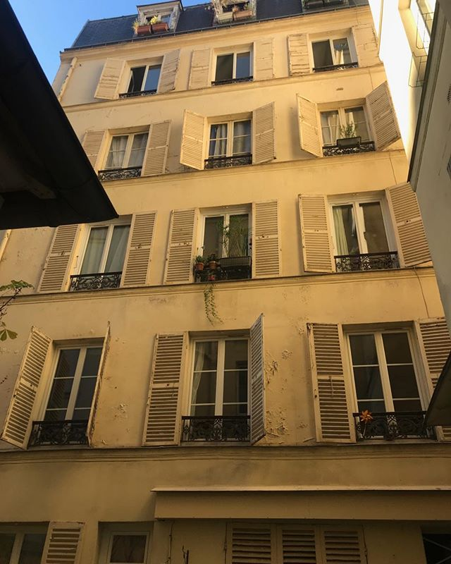 Arrived in Paris and I am always mesmerized by the architecture. So many generations of stories seeping from all the windows. I can't wait to connect with my modern day young adults here.