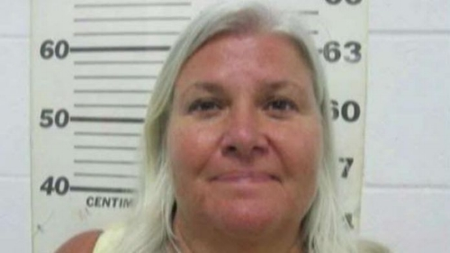 Lois' mug shot from her arrest in TX