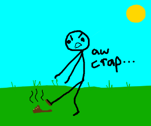 https://drawception.com/panel/drawing/jxX96336/person-stepping-in-dog-poop/