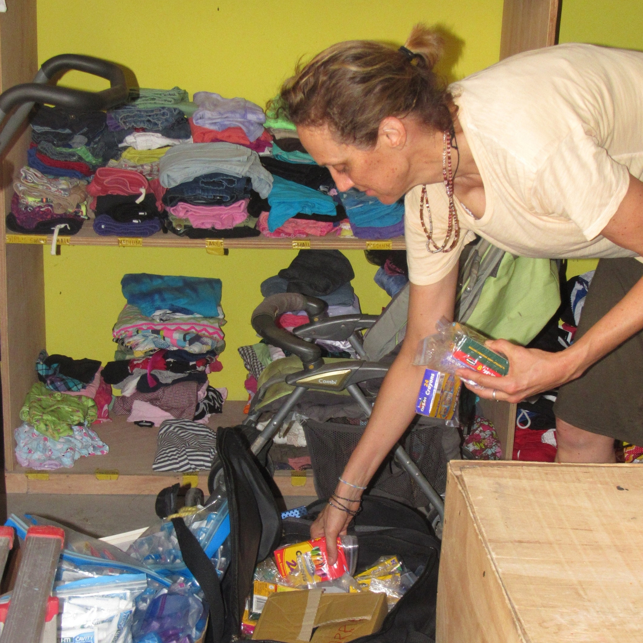 COLLECT & DISTRIBUTE DONATIONS    * STOCKING SUPPLIES AT THE GMAD HOME