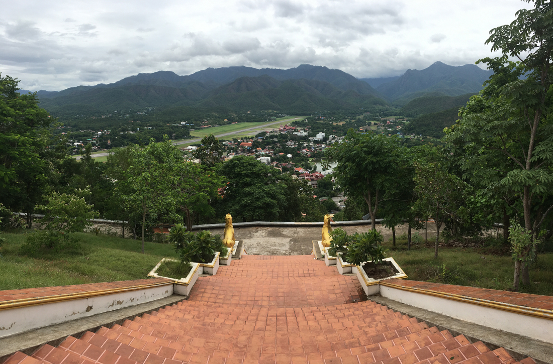 Looking down onto the Mae Hong Son Valley from the temple about the town.