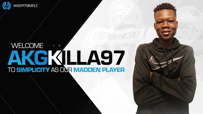 Welcome AKGKILLA97 to Simplicity -