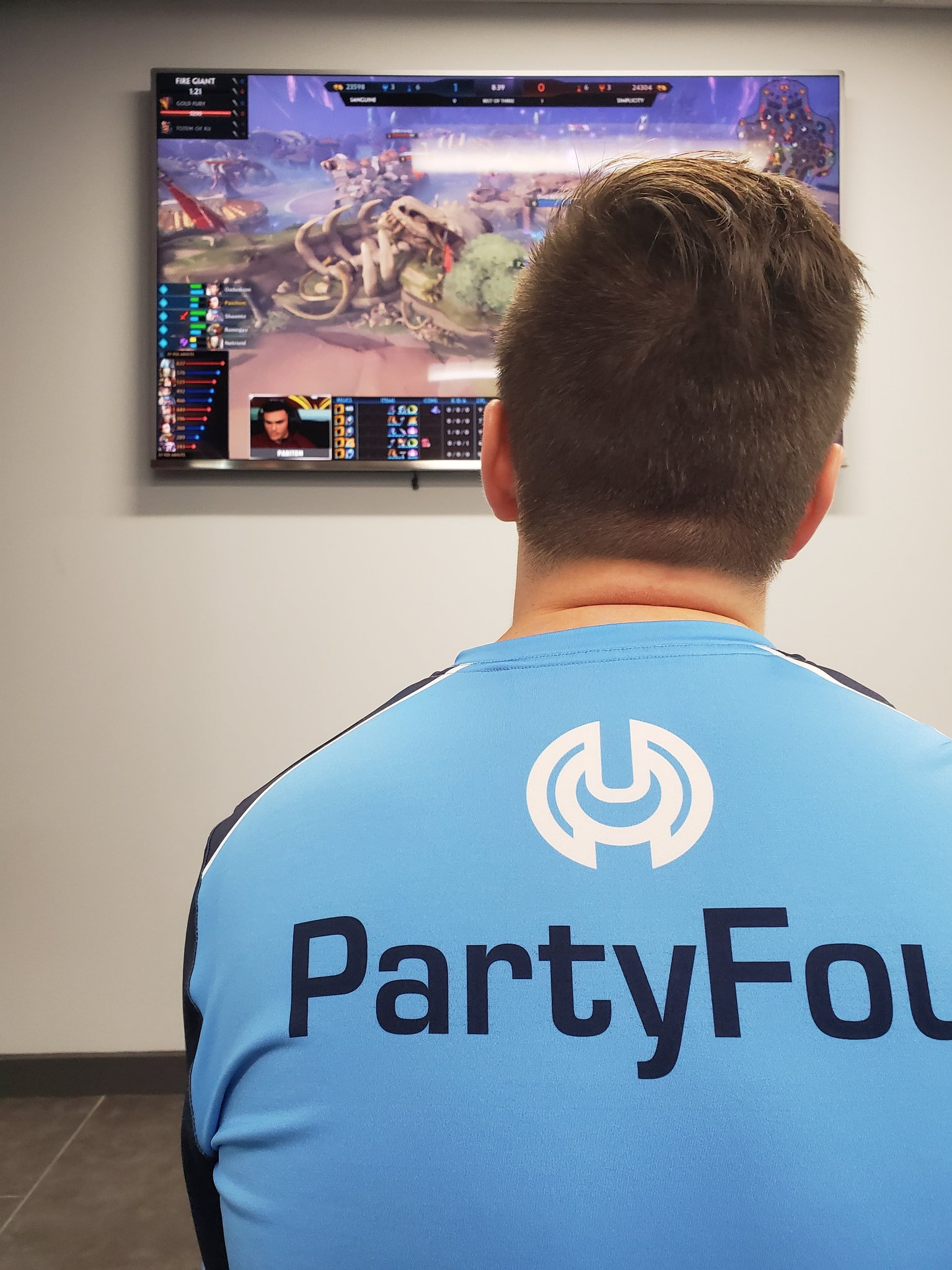 """Congratulations to PartyFoul on his new role as the """"Director of Esports"""" at Simplicity -"""