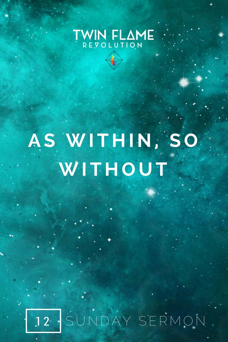 as within, so without