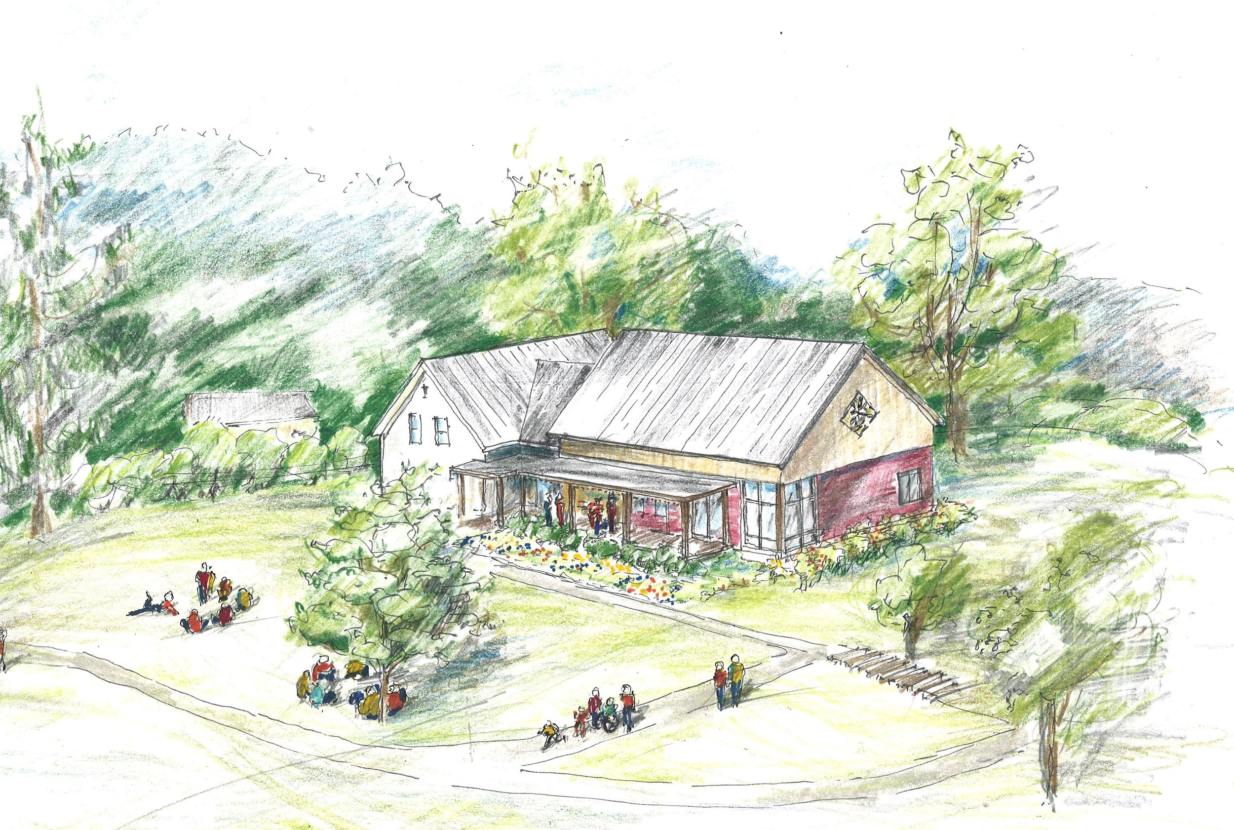 Black River Design rendering of the new addition at North Branch Nature Center