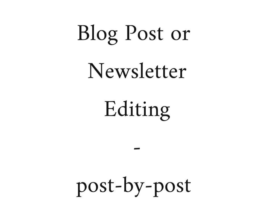 This is case-by-case editing, meaning I will edit one blog post OR one newsletter for you. This is a great starter service for you to discover whether or not you like my editing style and want to make me your go-to editor!  -