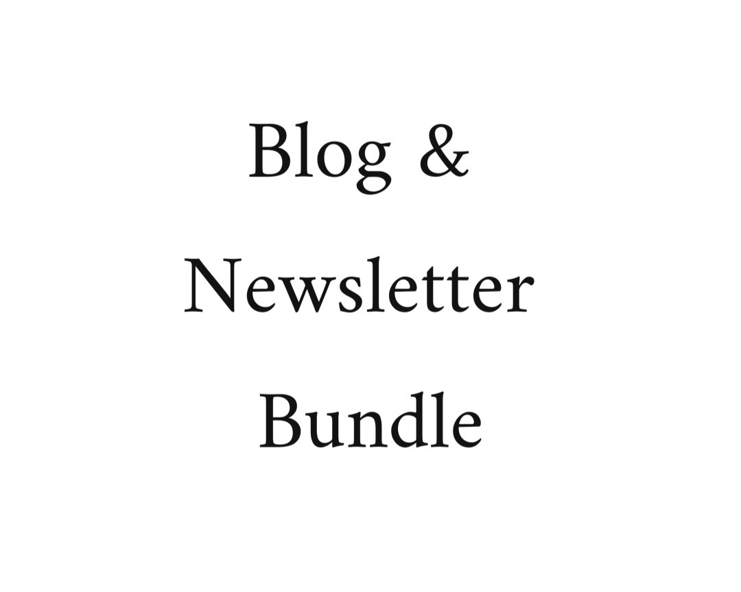 You guessed it! This is a monthly editing subscription for both your blog posts and your newsletters! This works the same way as  the previous service. You will be milled once a month via Paypal, and within that month I will edit on your content schedule.  -