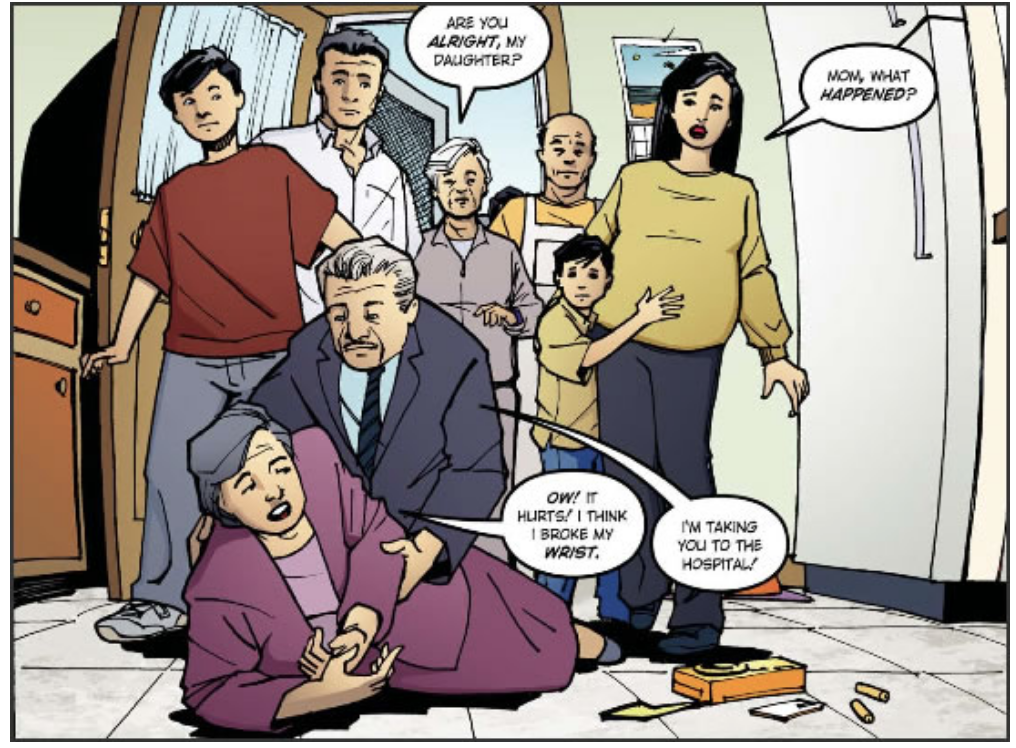 Isabel's story - A graphic story about a family learning about osteoporosis