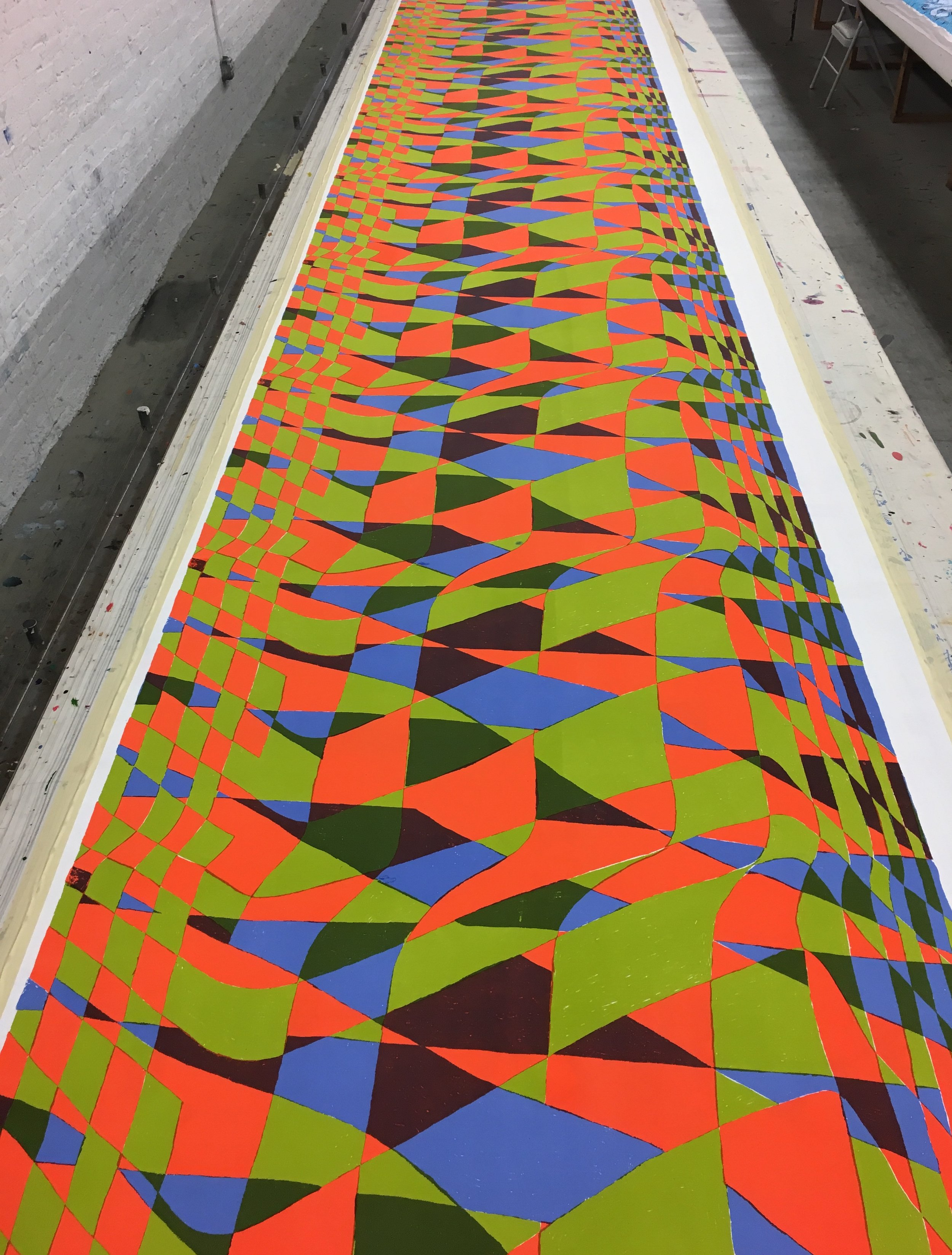 2018 Screenprint on cotton Final yardage for Apprenticeship at The Fabric Workshop & Museum