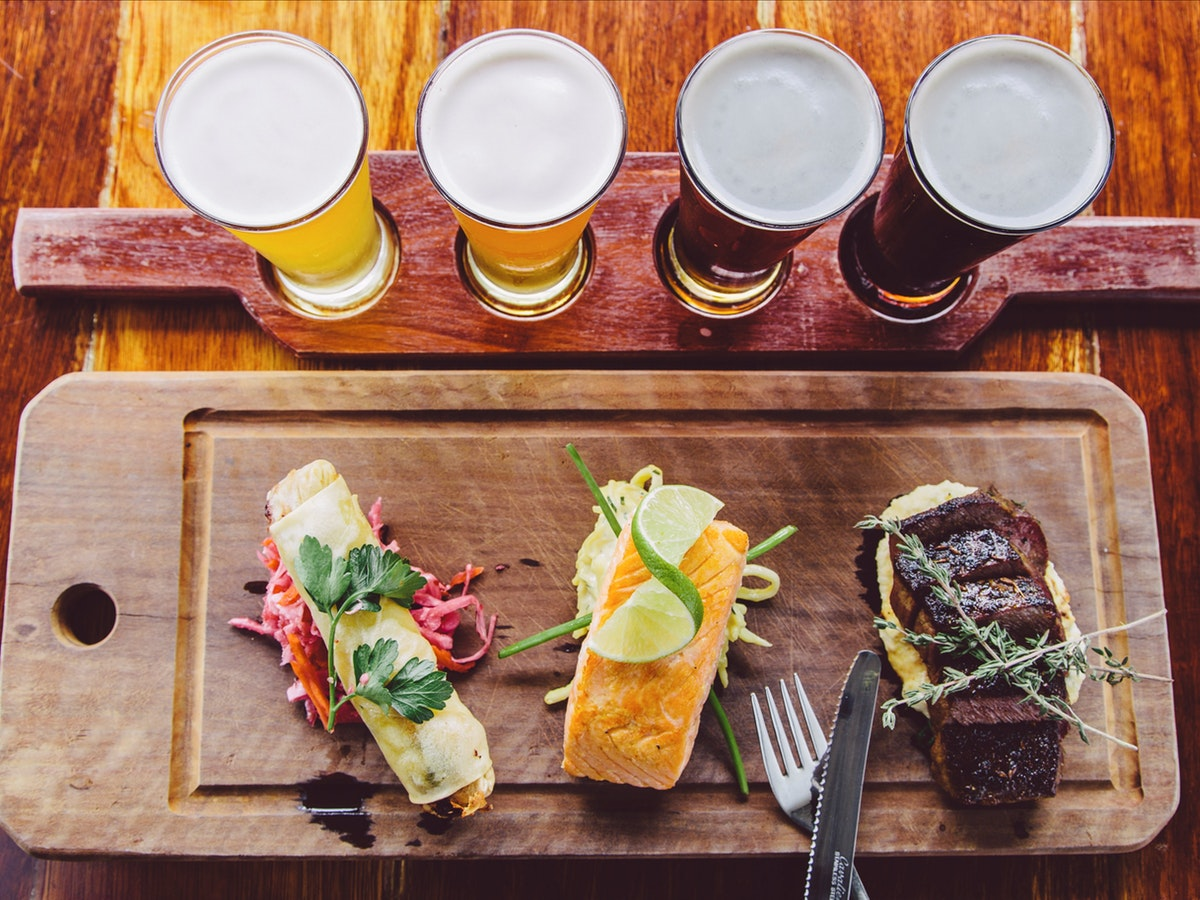 Beer tasting and lunch platter