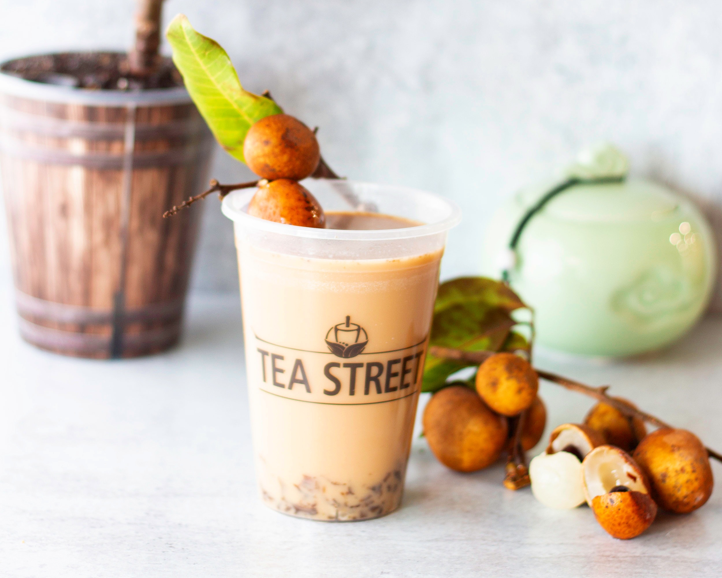 Longan Milk Tea