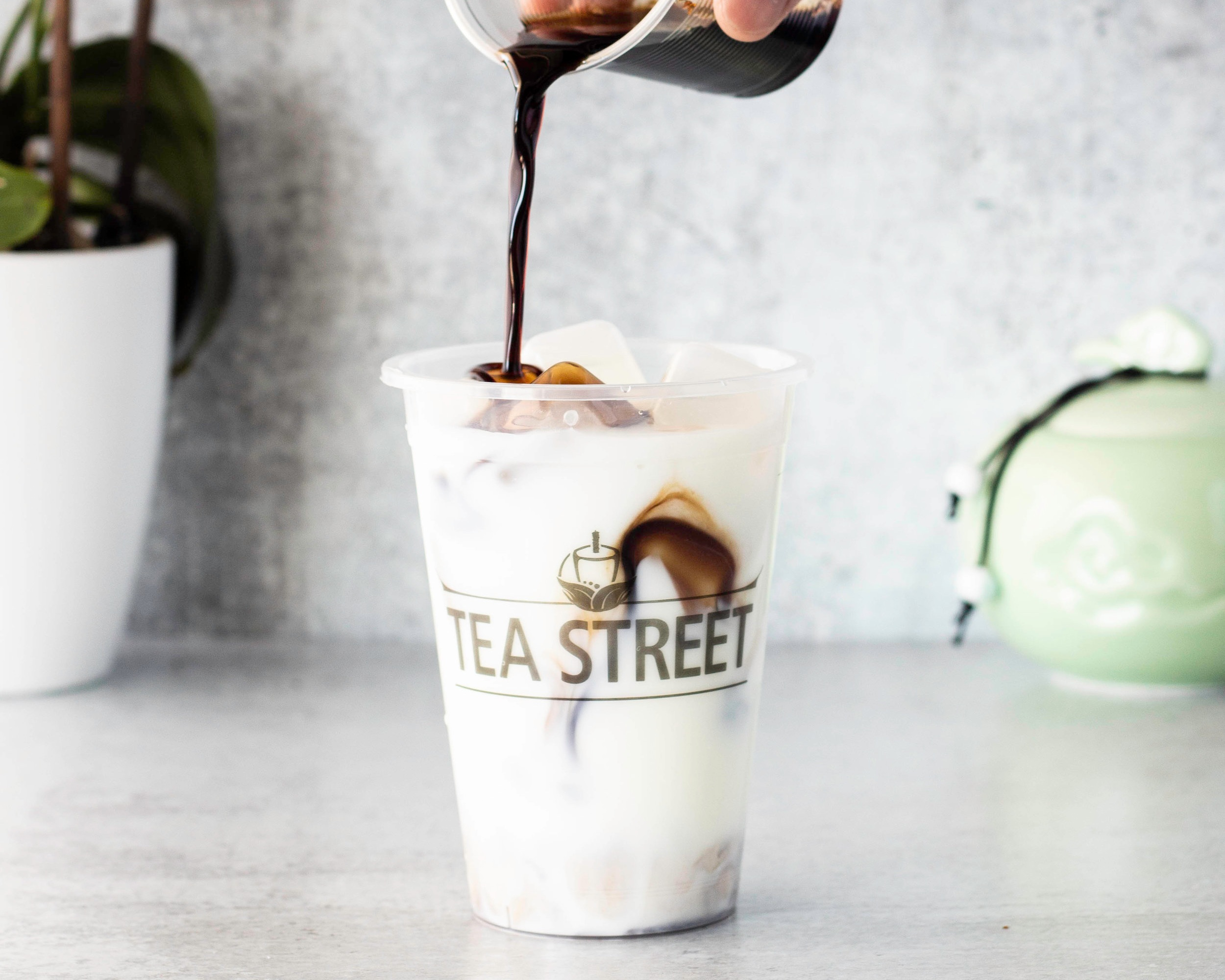 Iced Milk Herbal Tea
