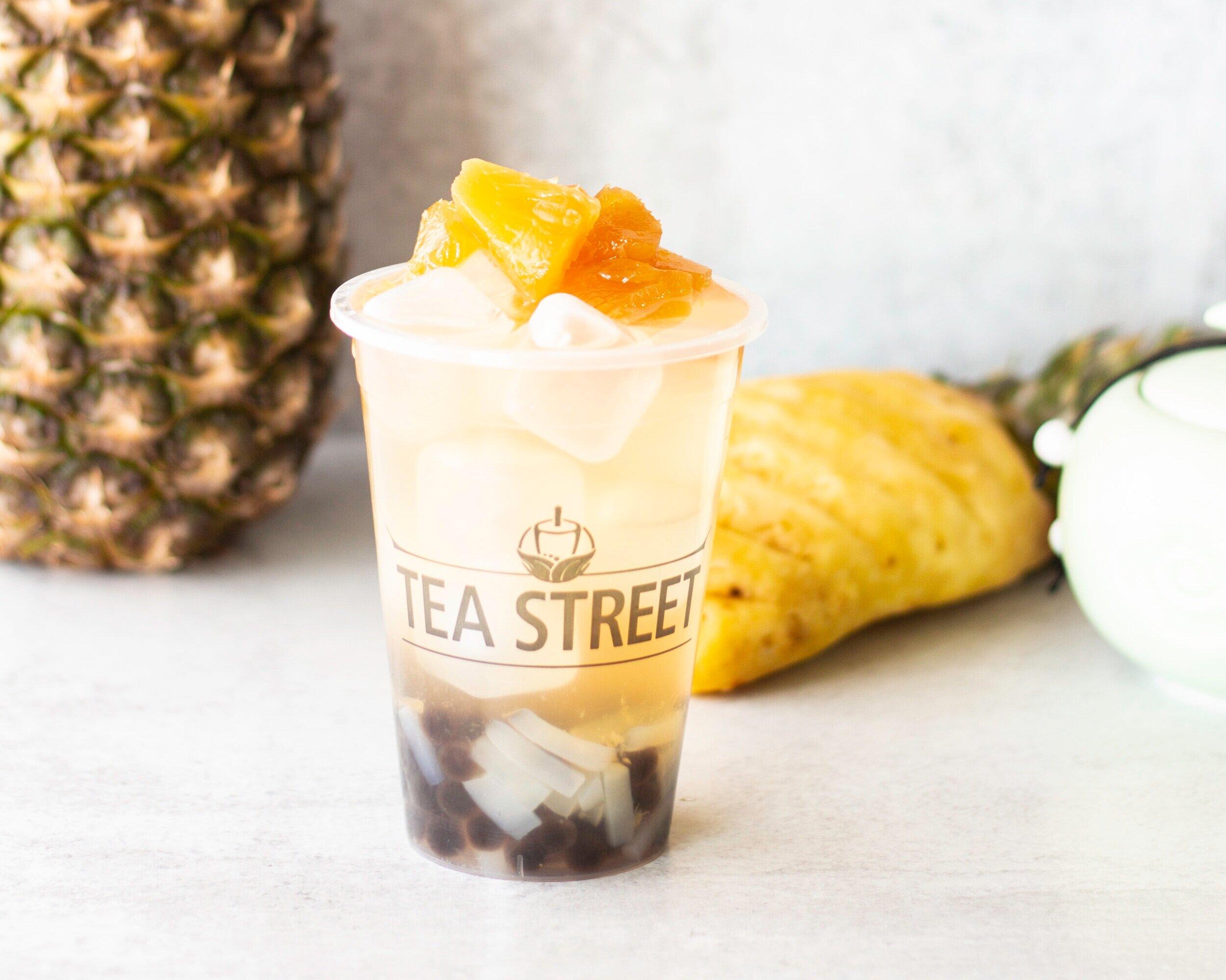 Pineapple w/Boba + Coconut Jelly