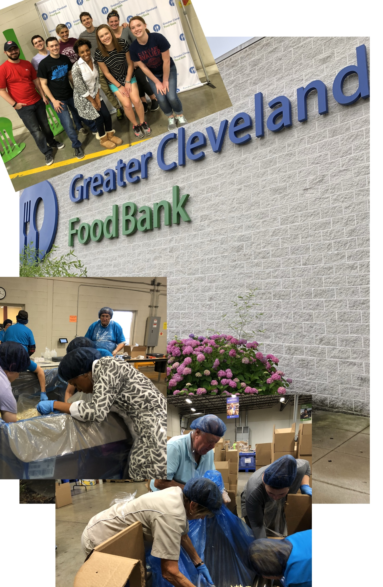 june 2018 - In partnership with Engage Cleveland, we participated and contributed in the repackaging and sorting of food that will be distributed to the poor, homeless and/ or the hungry.The Greater Cleveland Food Bank is the largest hunger relief organization in Northeast Ohio having provided 55 million meals in 2017 to hungry people in Cuyahoga, Ashtabula, Geauga, Lake, Ashland and Richland counties.There mission is to ensure that everyone in our communities has the nutritious food they need everyday.The Food Bank operates a community food distribution center, providing food and other critical grocery products annually to more than 940 local food pantries, hot meal programs, shelters, mobile pantries, programs for the elderly and other nonprofit agencies.To learn more about the Cleveland Food Bank, Click below!