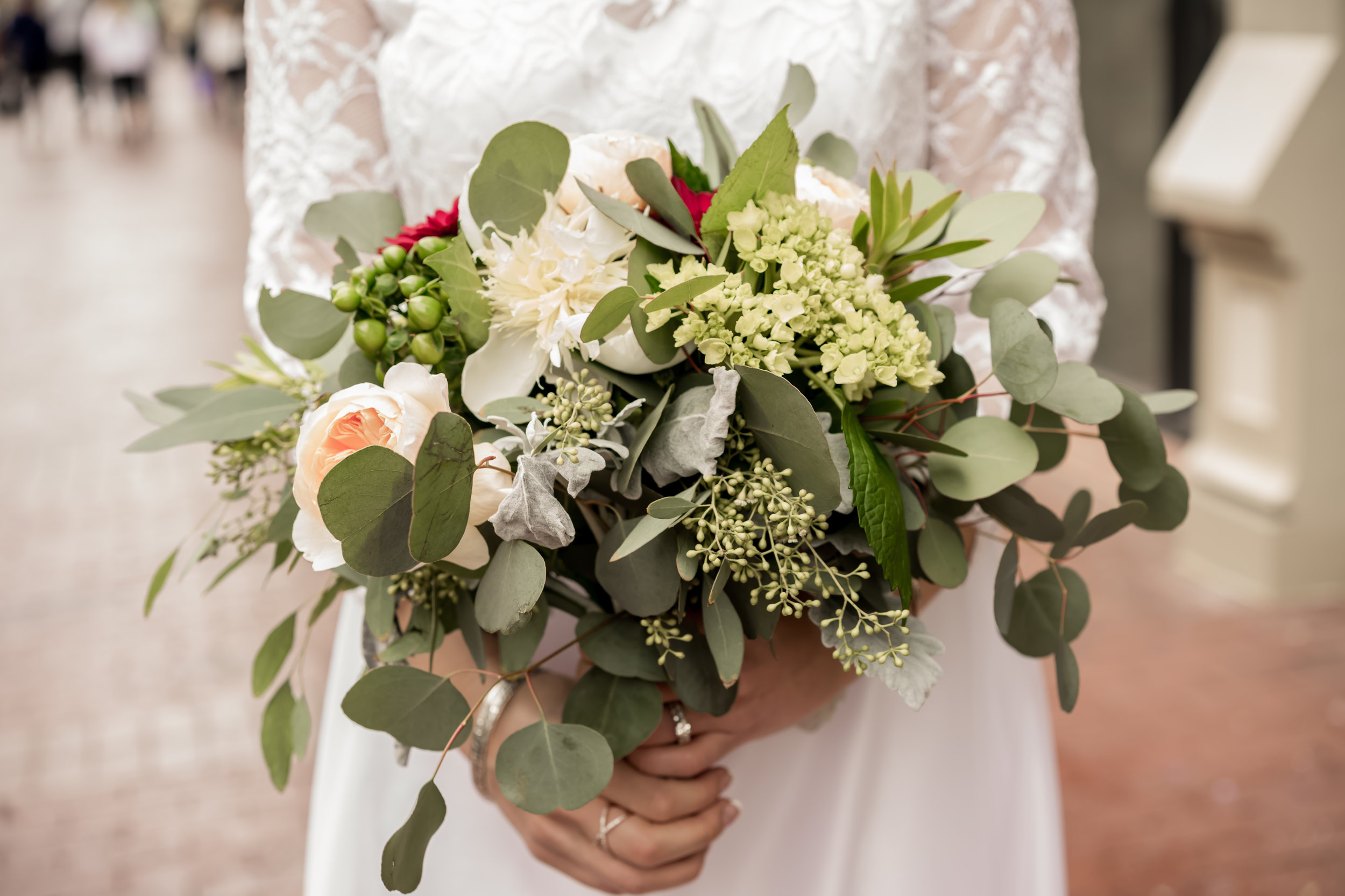 Wedding bouquet field photo louisville photographer