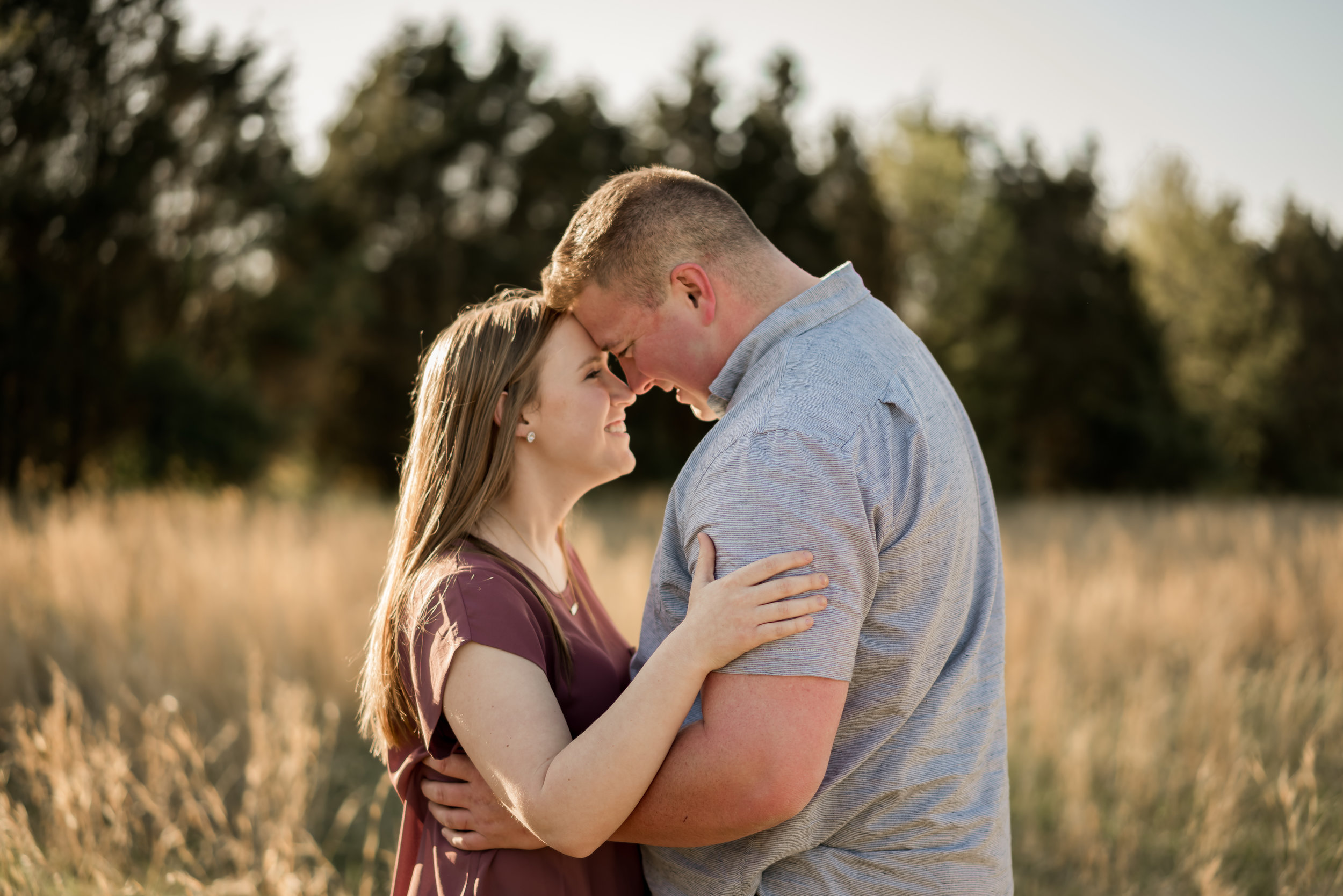 engagement couple field photo louisville photographer