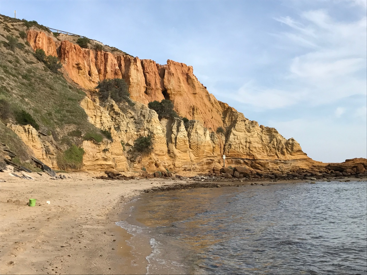 Red Bluff viewed from the beach.