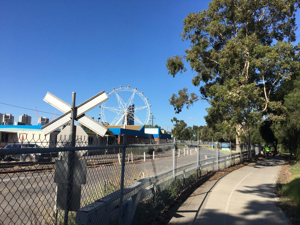 Nearing Footscray Road on Capital City Trail