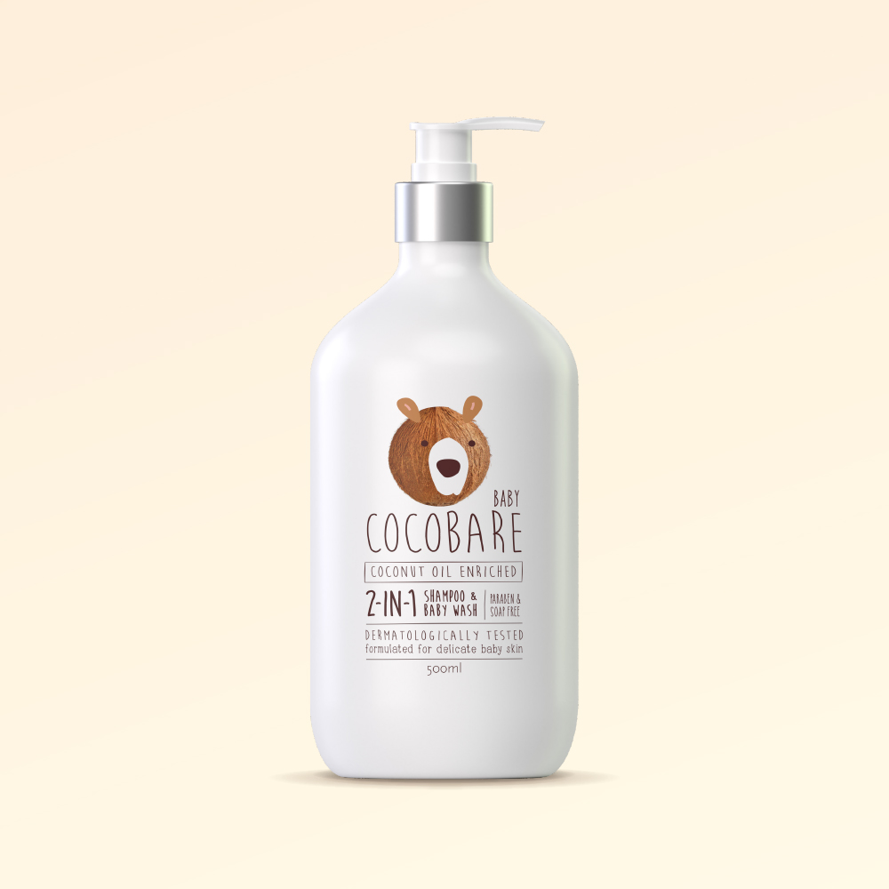 2-in-1 Shampoo& Baby Wash - 500ml