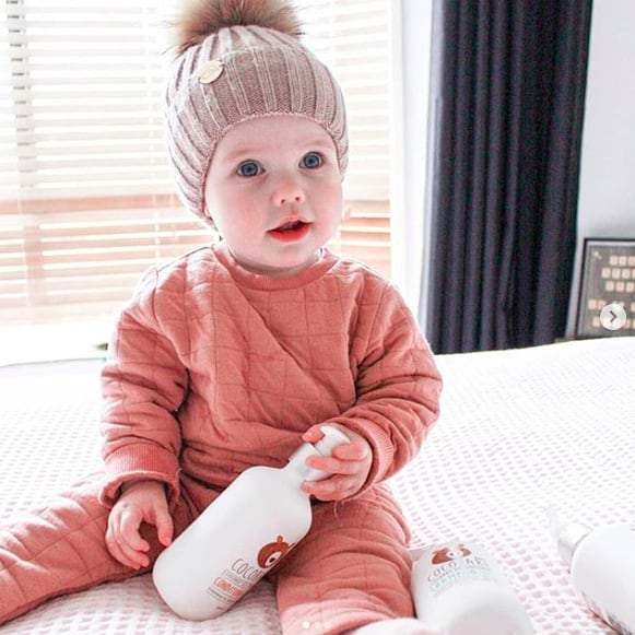 The sweetest pea with our products! They are sensitive skin approved! ❤️ Via @the.caruso.clan