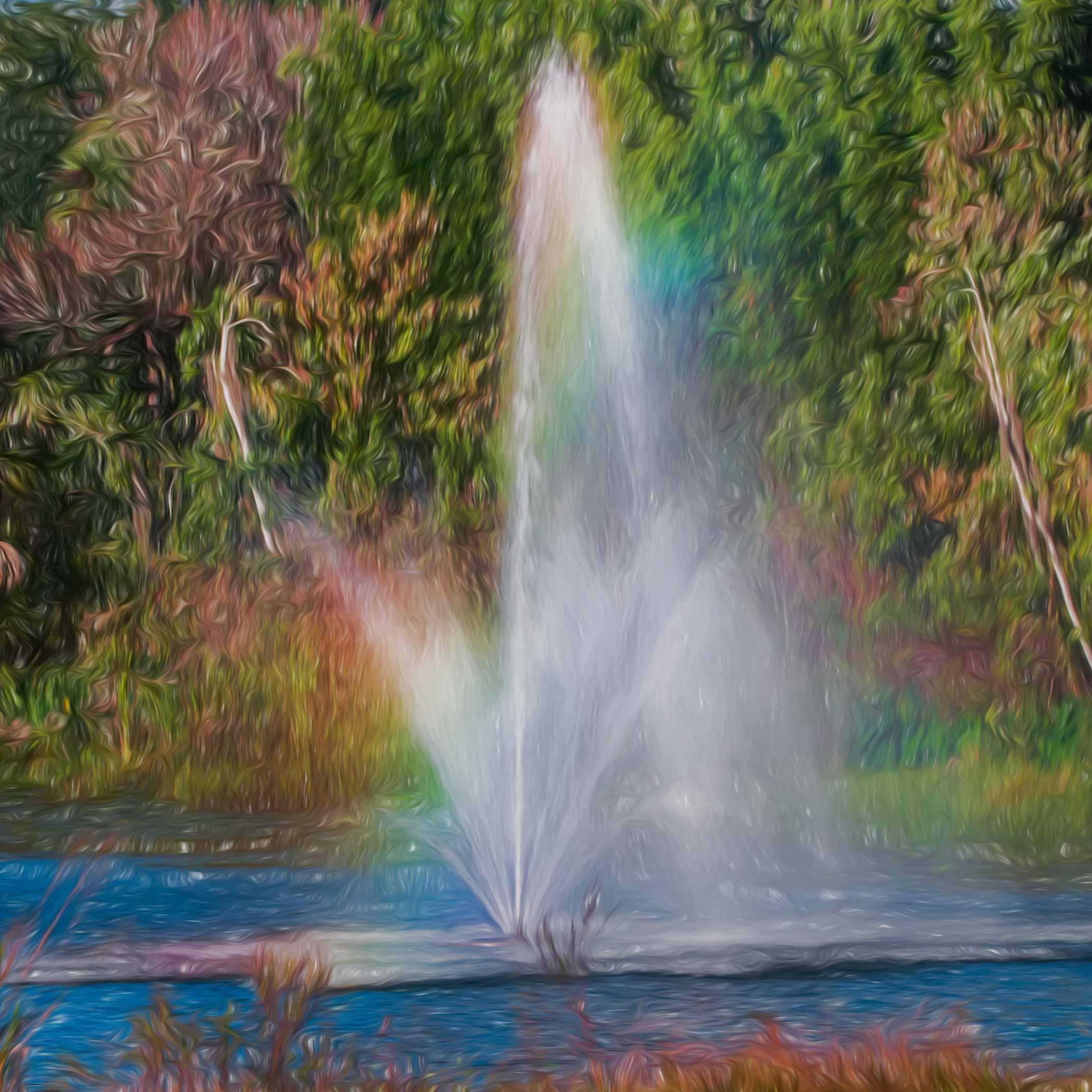 Everyday water fountain rainbow