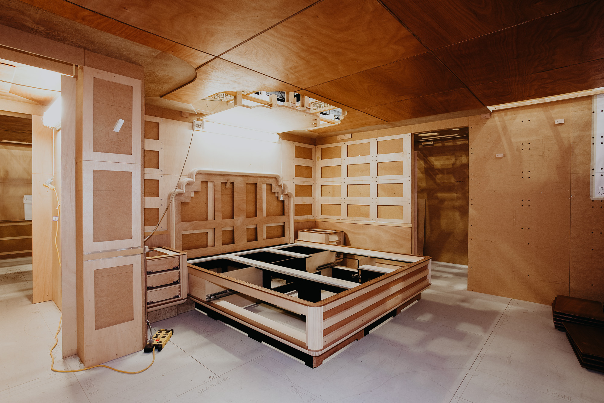 Luxury Superyacht bed room fitout