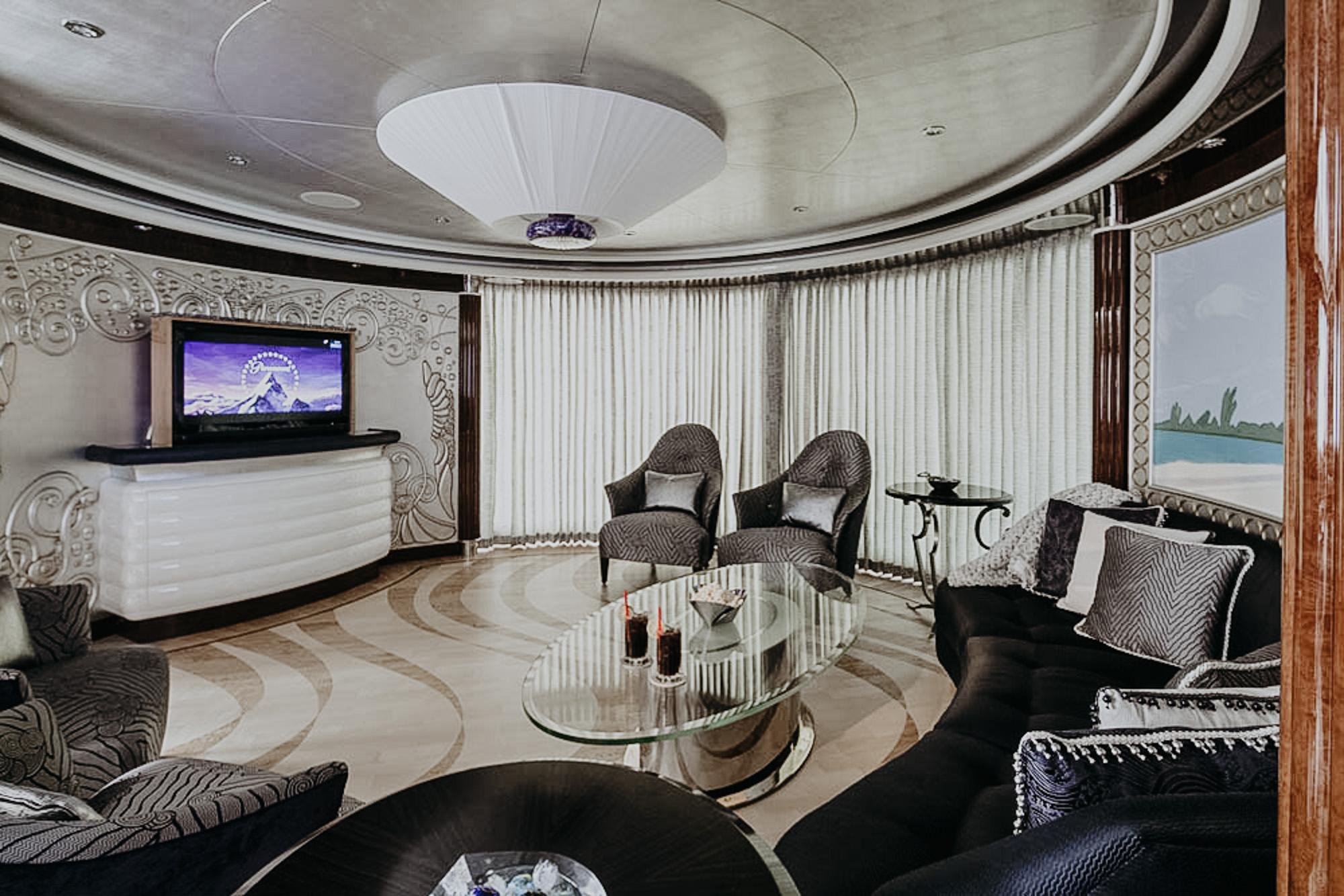 Luxy Superyacht entertainment room