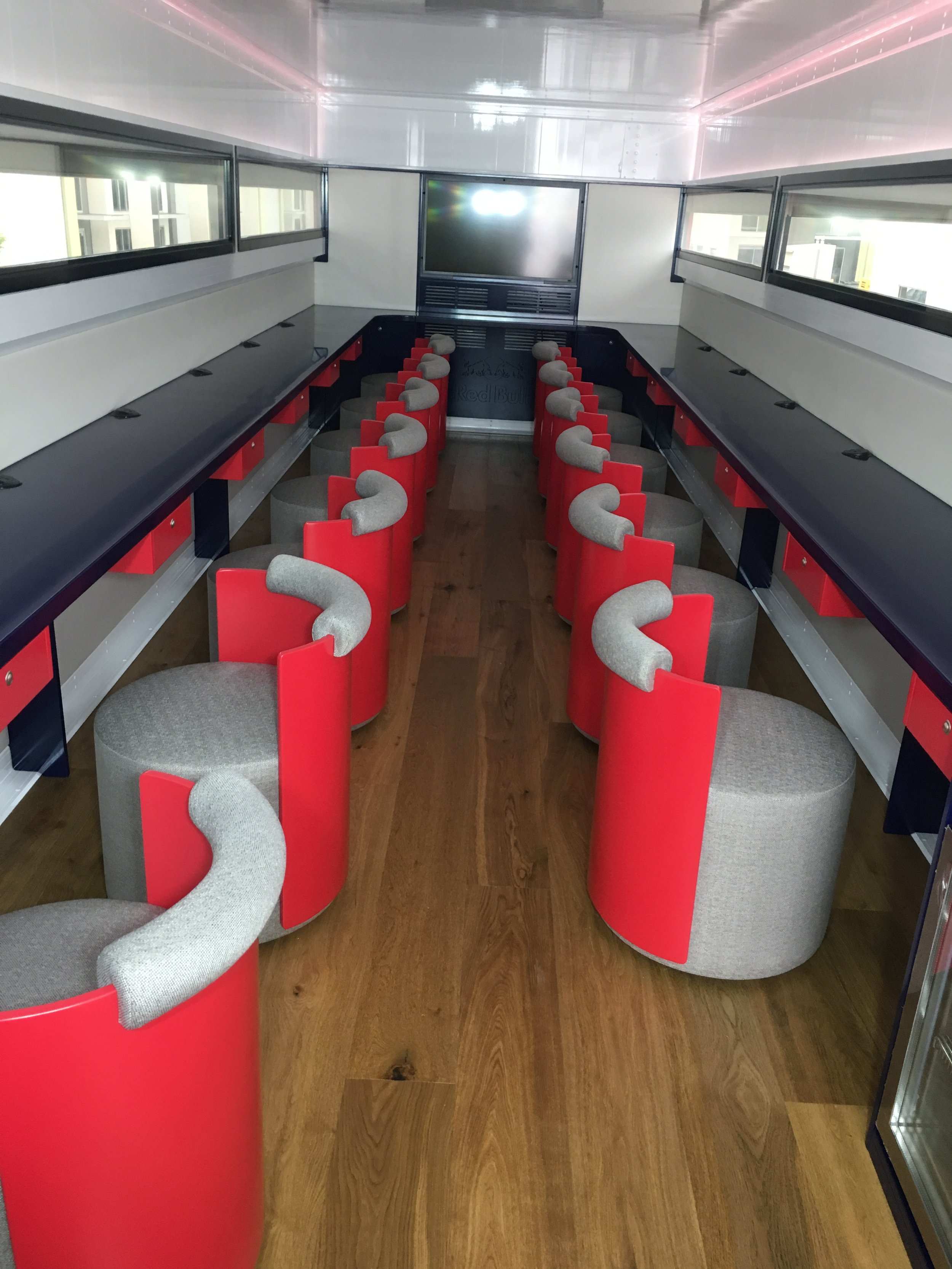 Fit out and furniture for Red Bull Trailer
