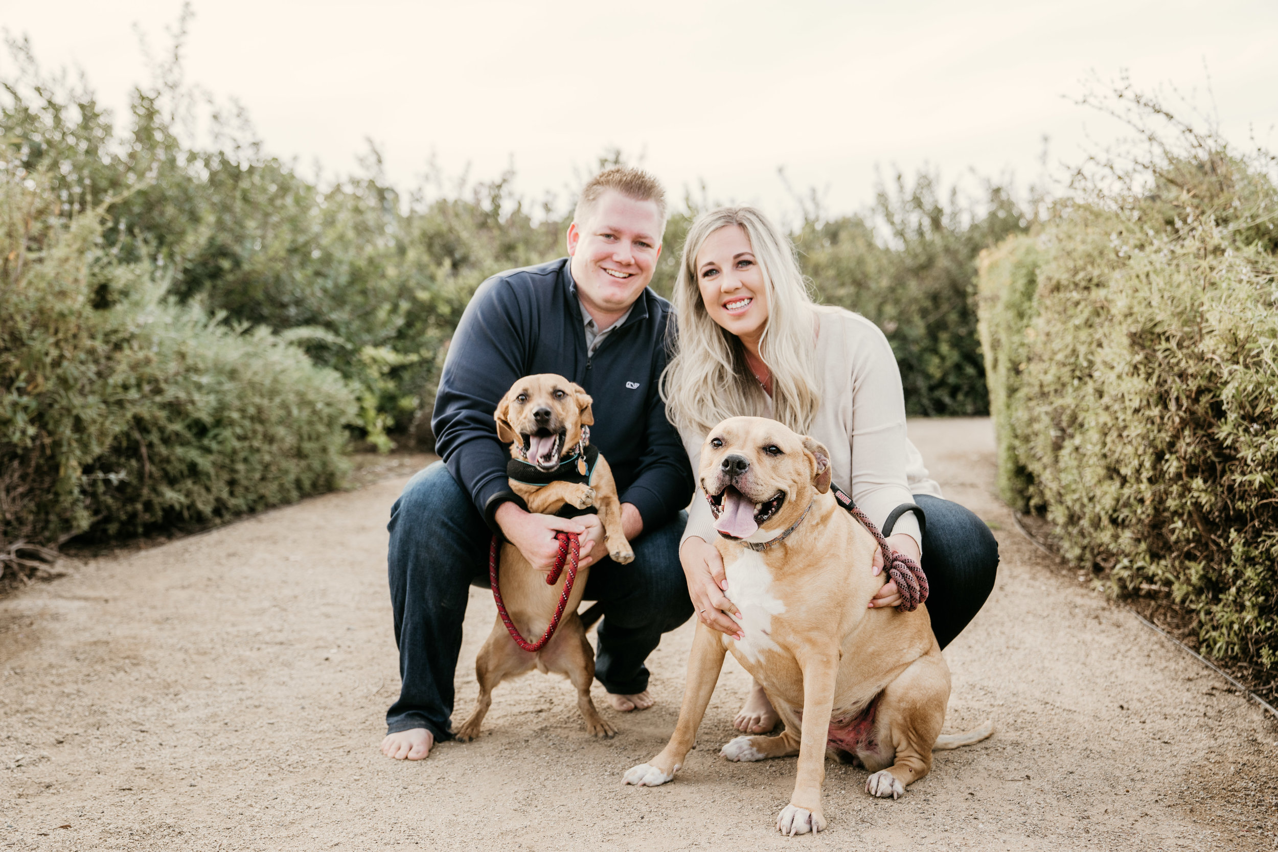 Palos Verdes Engagement Session with Dogs
