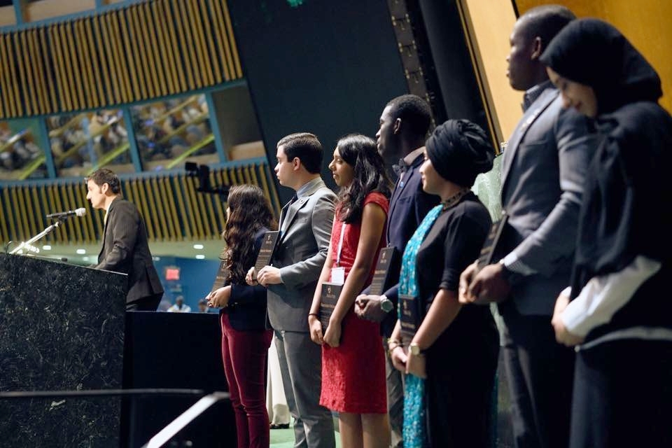Recognition at the 2017 United Nations Youth Assembly