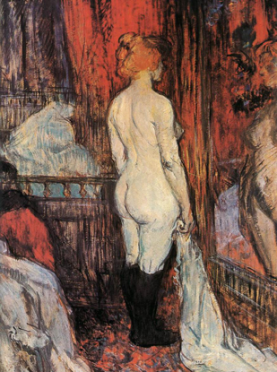 Nude in front of a Mirror 1897 土魯斯-羅特列克(Henri De Toulouse-Lautrec)