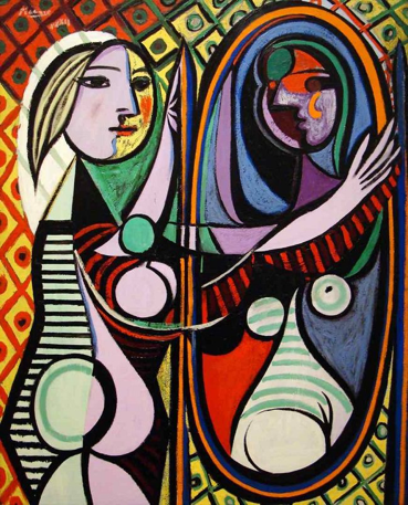 Girl Before A Mirror 畢卡索(Pablo Picasso) 1932
