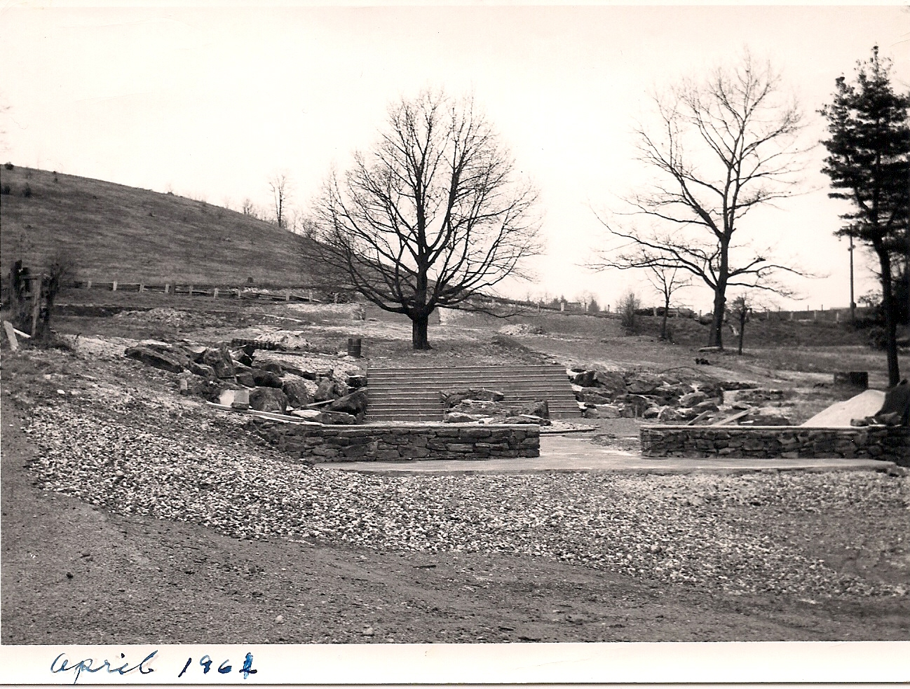 1961 VIEW OF NATIVE GARDENS - BEFORE PLANTING