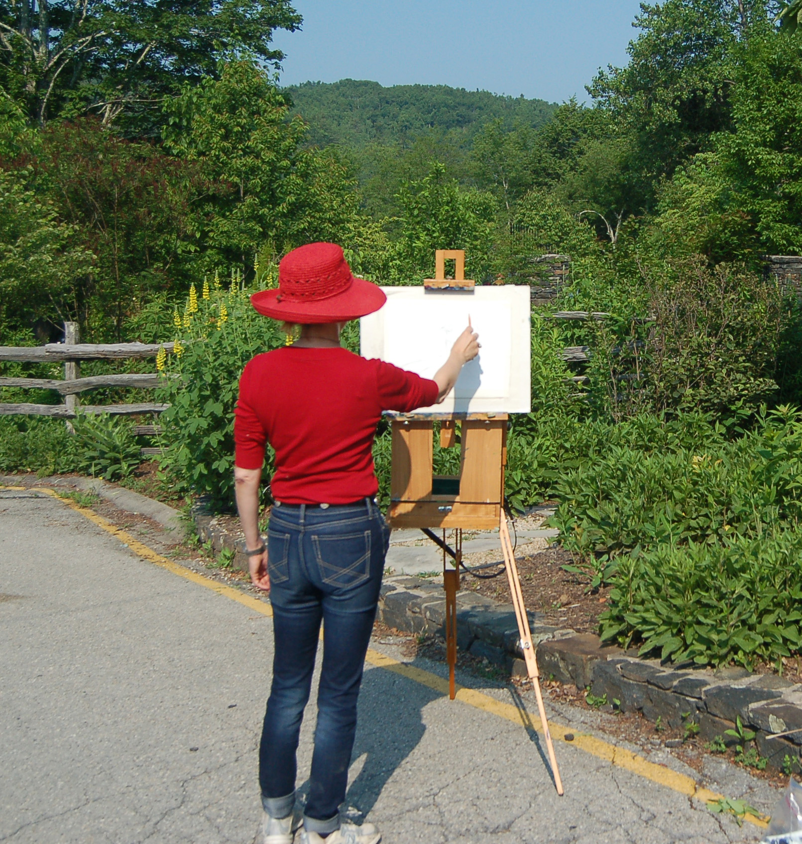 Artists enjoy Plein Air painting.